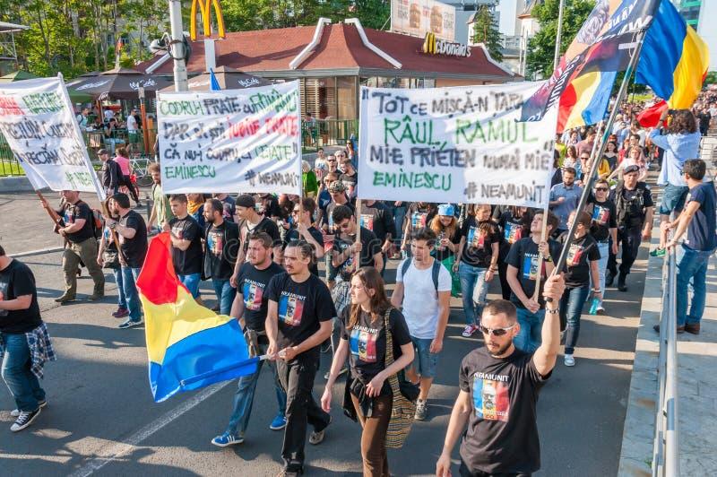 Manifesto against abusive deforestation stock photography