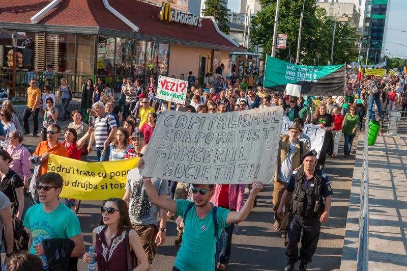 Manifesto against abusive deforestation royalty free stock photos