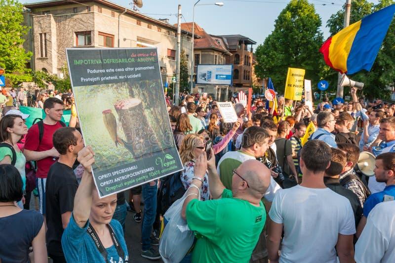 Manifesto against abusive deforestation stock photos