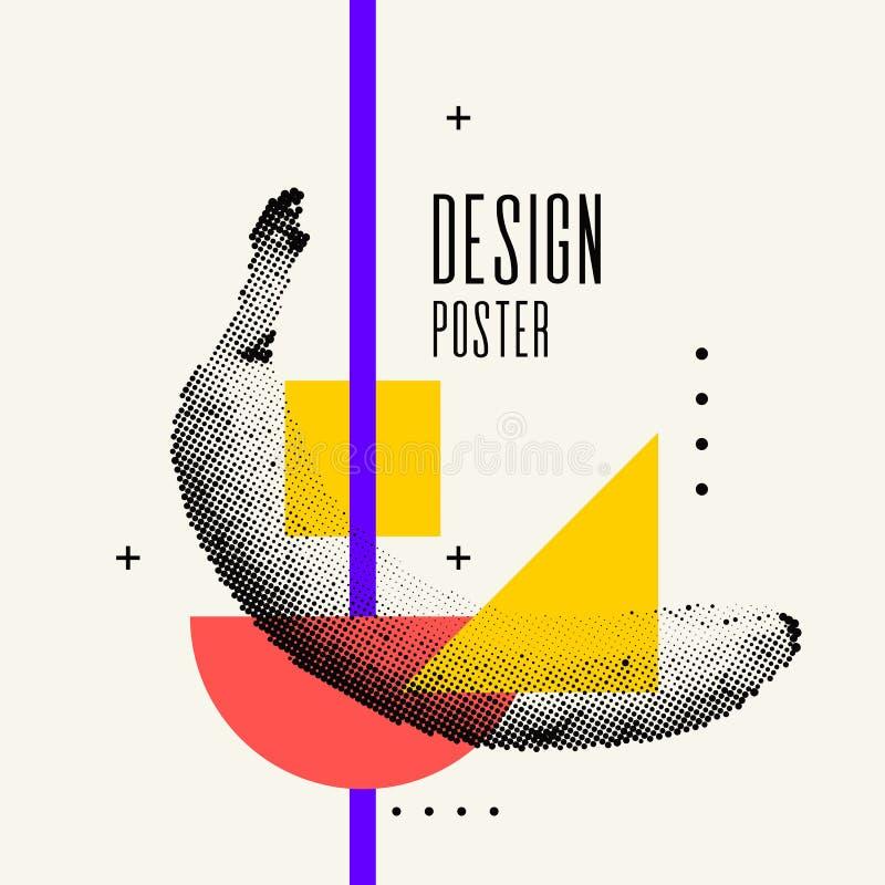 Manifesto alla moda di ora legale, grafici d'avanguardia illustrazione vettoriale
