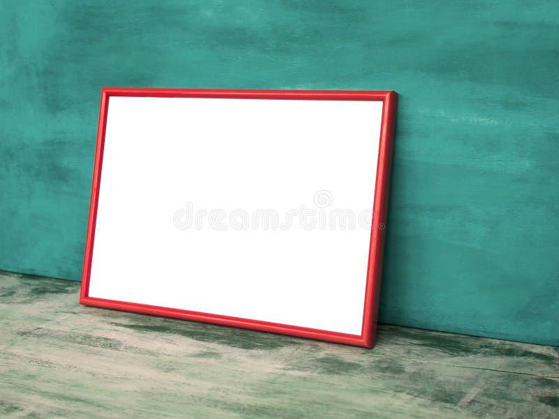 Manifesto alto falso nel telaio rosso fotografie stock