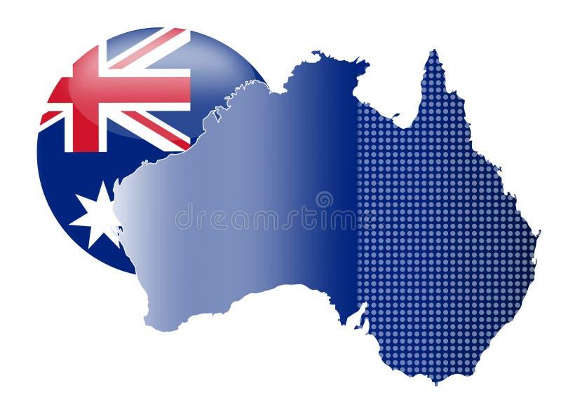 Manifesto astratto di affari di qualità eccellente dell'Australia illustrazione di stock