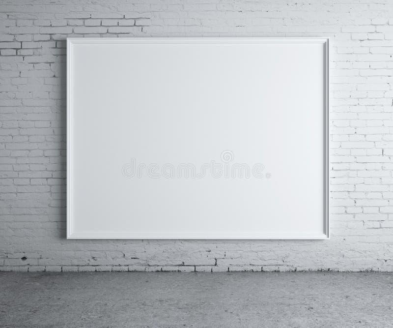Manifesto in bianco fotografie stock