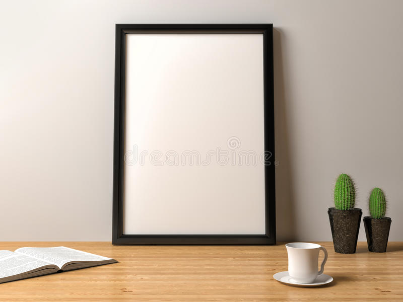 Manifesto in bianco della struttura sulla tavola illustrazione vettoriale