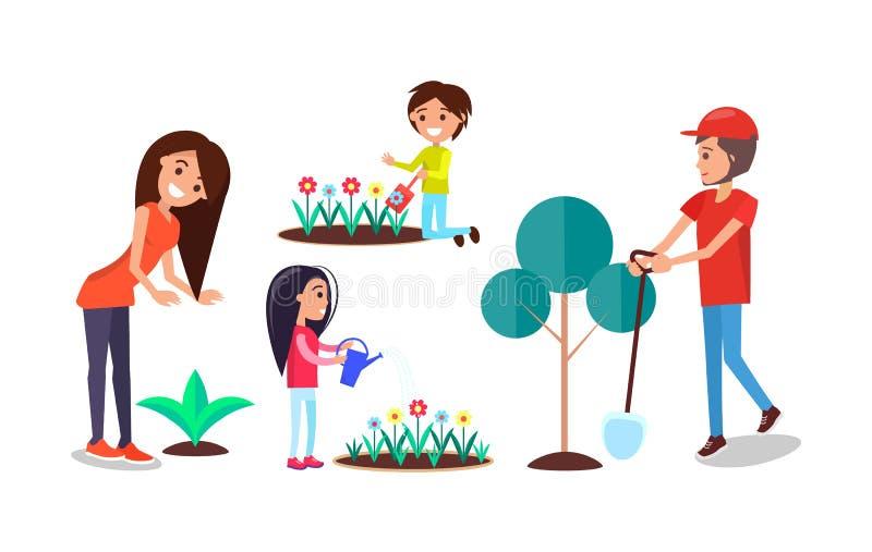 Manifesto che solleva consapevolezza per tenere ambiente pulito illustrazione vettoriale