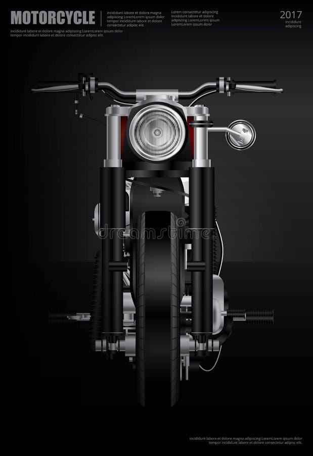 Manifesto Chopper Motorcycle royalty illustrazione gratis