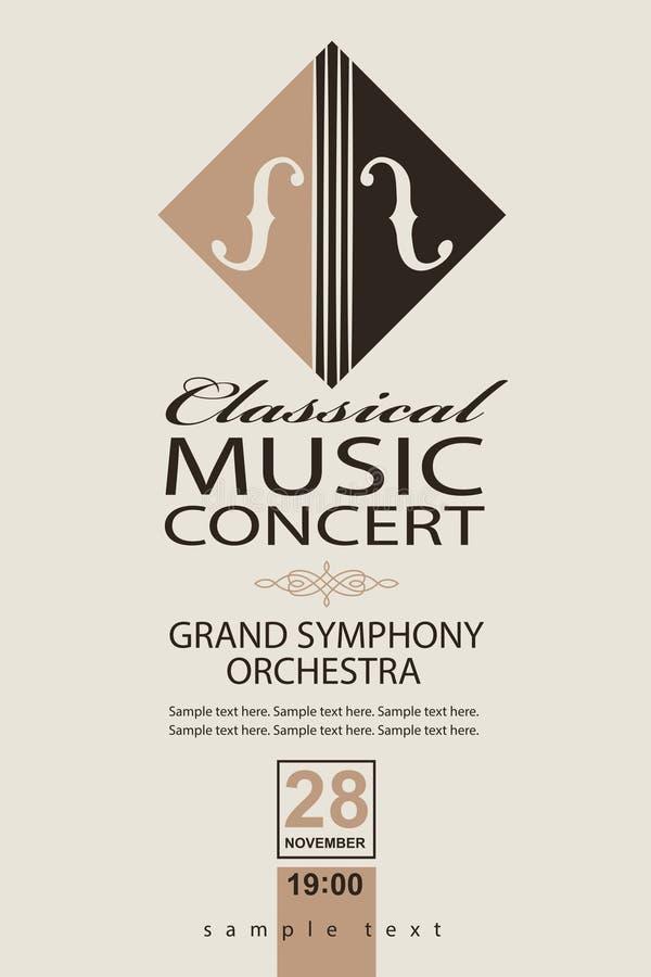Manifesto classico di concerto illustrazione vettoriale