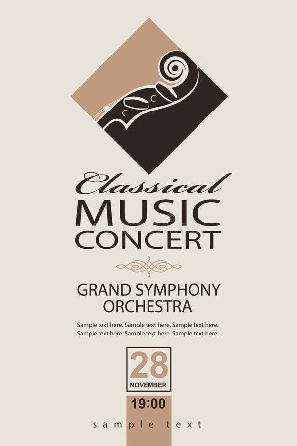 Manifesto classico di concerto royalty illustrazione gratis