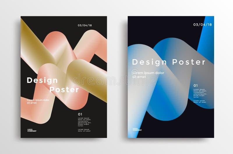 Manifesto creativo di progettazione illustrazione di stock