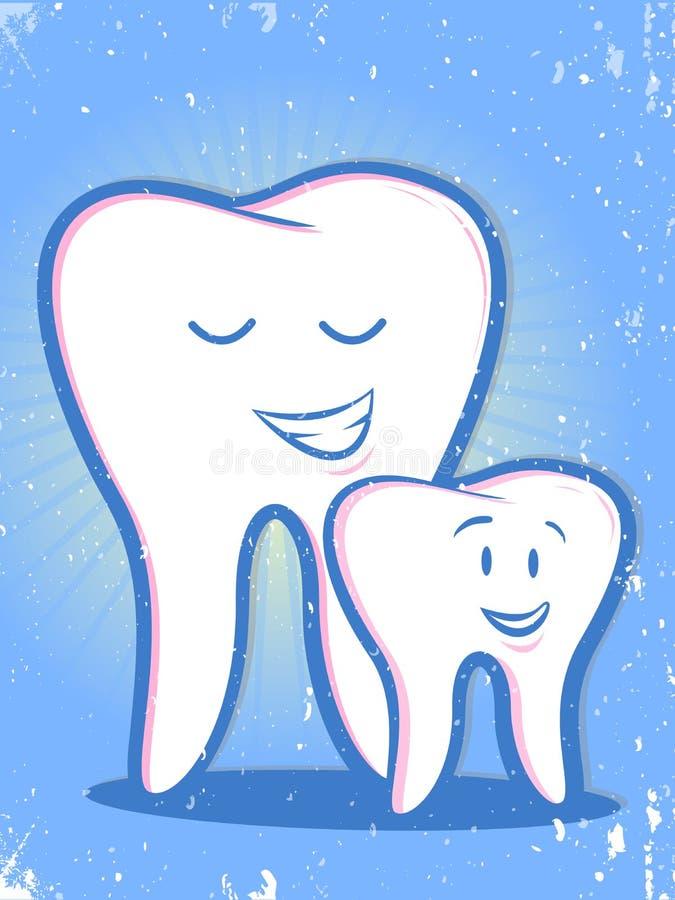 Manifesto d'annata dei denti royalty illustrazione gratis
