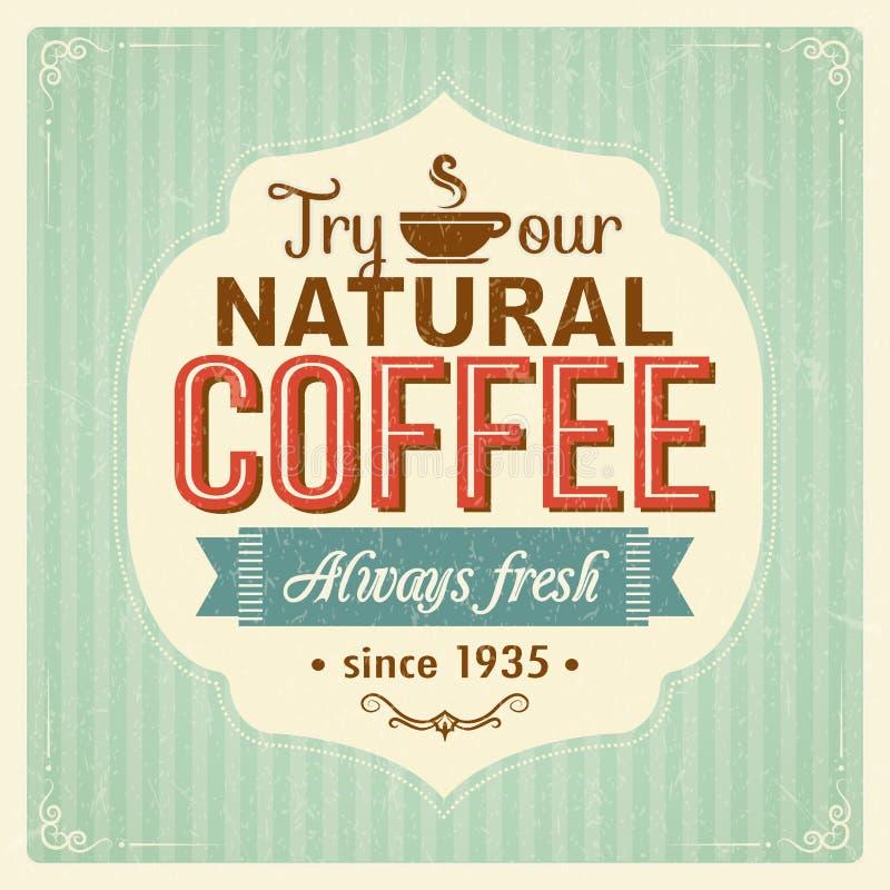 Manifesto d'annata del caffè con gli effetti di lerciume royalty illustrazione gratis