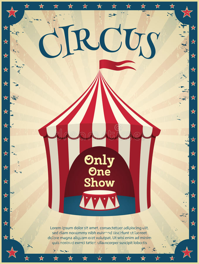 Manifesto d'annata del circo illustrazione vettoriale