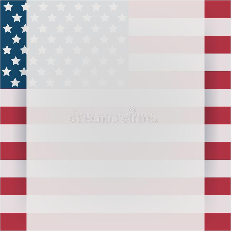Manifesto d'annata di festa dell'indipendenza Illustrazione di vettore layered illustrazione vettoriale
