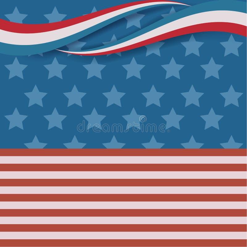 Manifesto d'annata di festa dell'indipendenza Illustrazione di vettore layered royalty illustrazione gratis