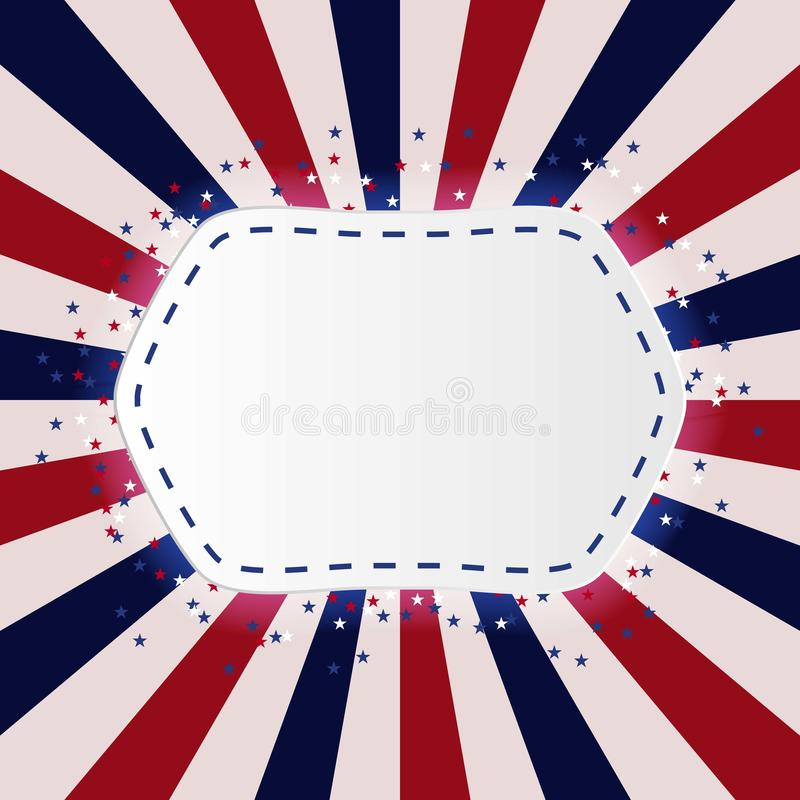 Manifesto d'annata di giorno di U.S.A. Illustrazione di vettore layered illustrazione vettoriale