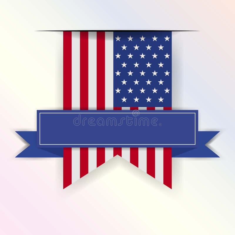 Manifesto d'annata di giorno di U.S.A. Illustrazione di vettore layered royalty illustrazione gratis