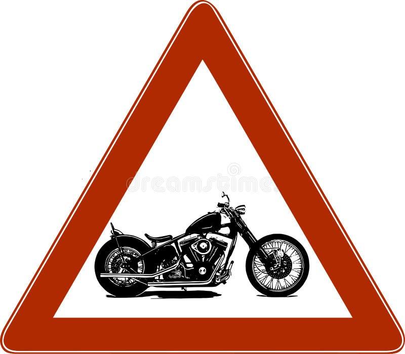 Manifesto d'annata di simbolo di Chopper Motorcycle dell'illustrazione di vettore illustrazione di stock