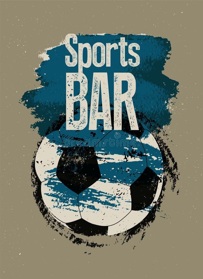 Manifesto d'annata tipografico di lerciume di stile di Antivari di sport Retro illustrazione di vettore royalty illustrazione gratis