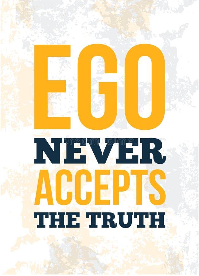 Manifesto d'avanguardia con la citazione di ego per progettazione dell'insegna Concetto di formazione Manifesto, insegna illustrazione di stock