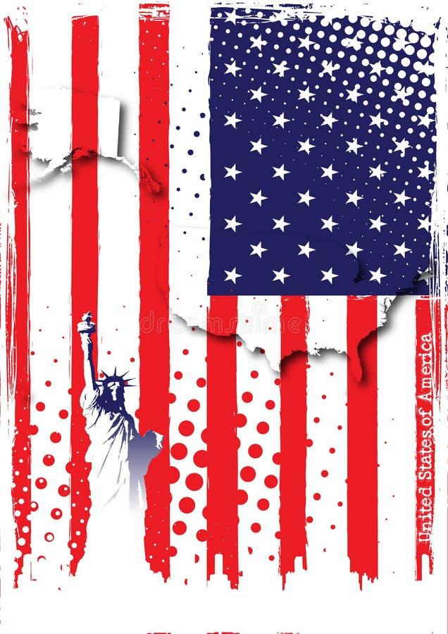 Manifesto degli S.U.A. illustrazione vettoriale