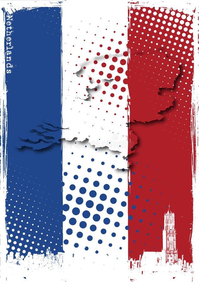 Manifesto dei Paesi Bassi illustrazione vettoriale