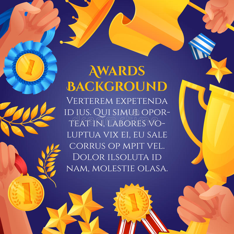 Manifesto dei premi e del premio royalty illustrazione gratis