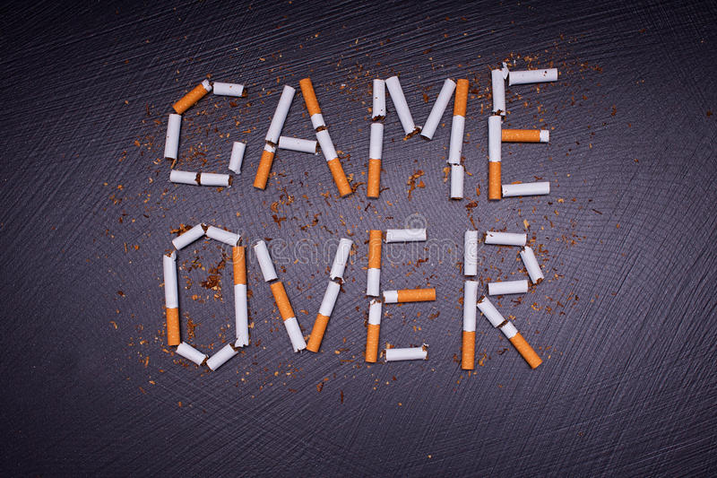 manifesto del Anti-tabacco fotografia stock libera da diritti