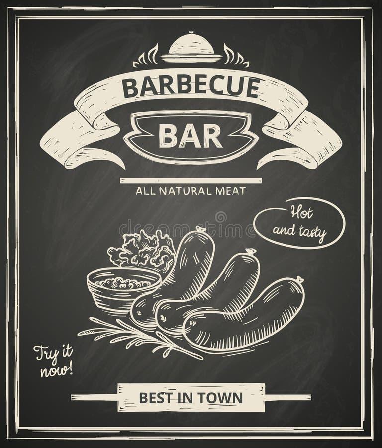 Manifesto del BBQ illustrazione di stock