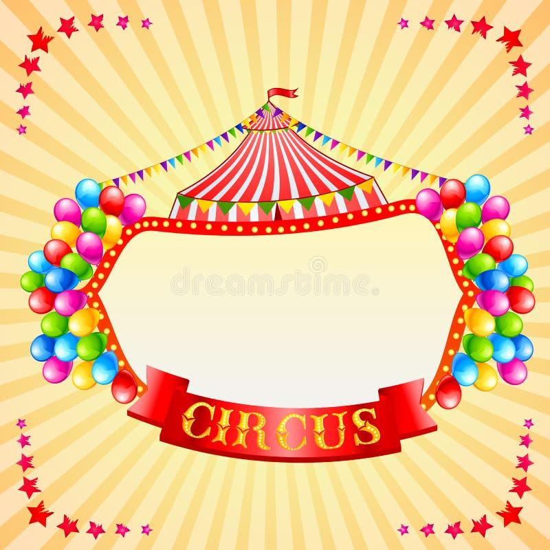Manifesto del circo dell'annata illustrazione di stock