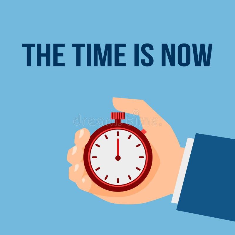 Manifesto del cronometro della gestione di tempo illustrazione di stock