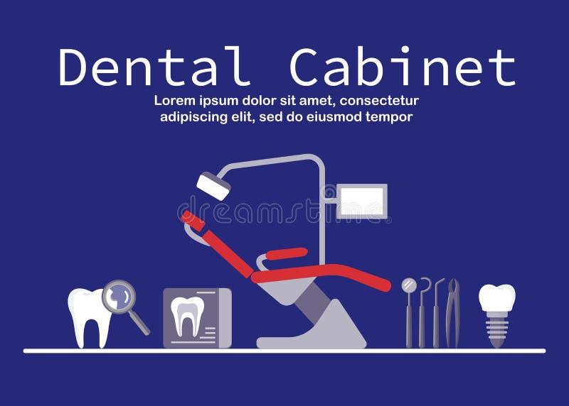 Manifesto del gabinetto dentario illustrazione di stock