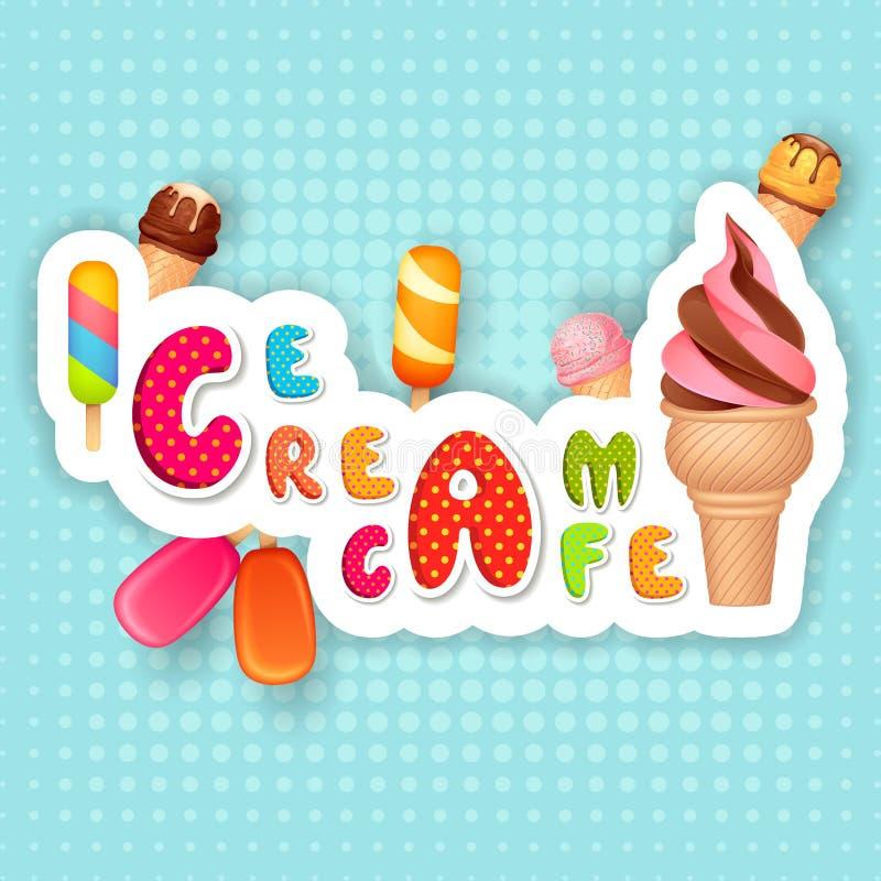 Manifesto del gelato illustrazione di stock