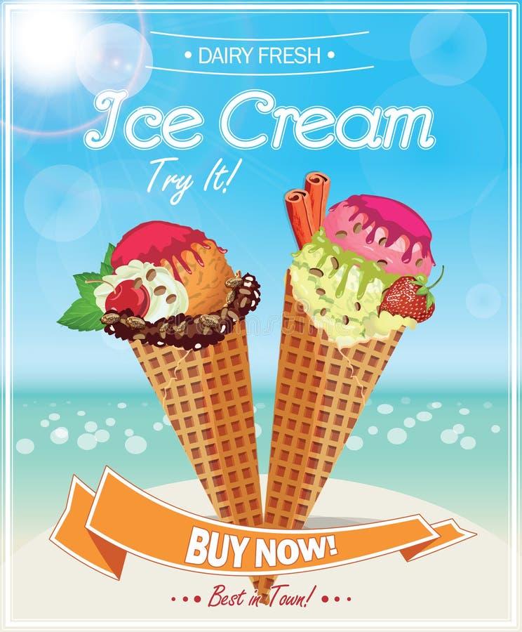 Manifesto del gelato illustrazione vettoriale