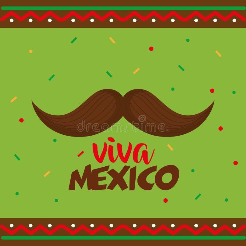 Manifesto del Messico di viva dei baffi illustrazione di stock