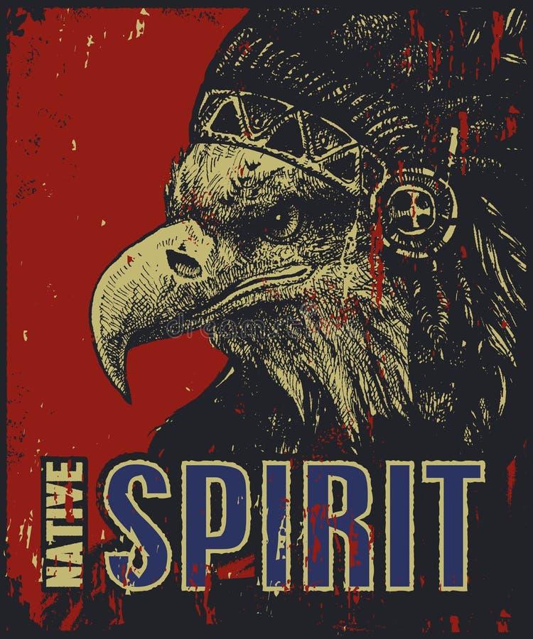 Manifesto del nativo americano royalty illustrazione gratis