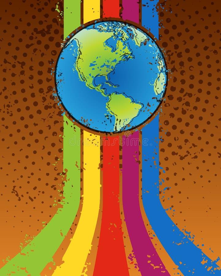 Manifesto del partito del mondo royalty illustrazione gratis