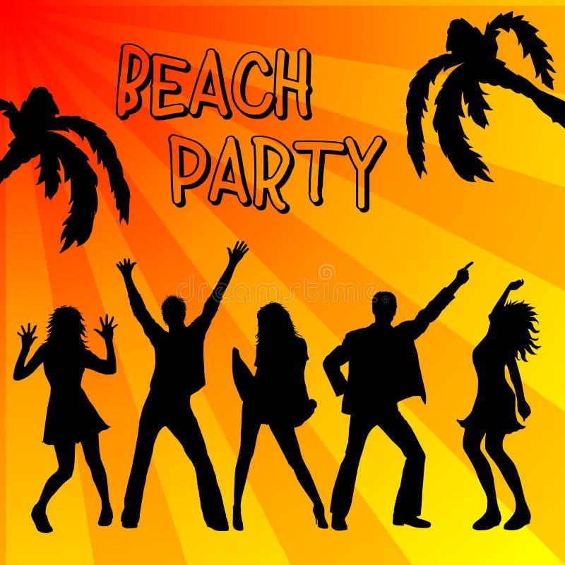 Manifesto del partito della spiaggia illustrazione vettoriale