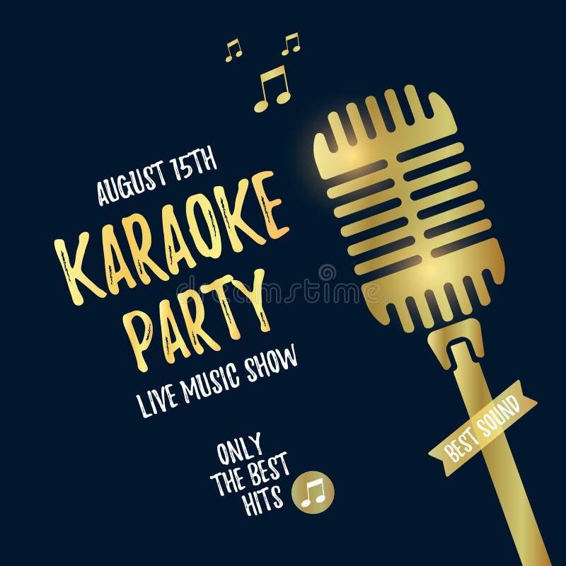 Manifesto del partito di karaoke royalty illustrazione gratis