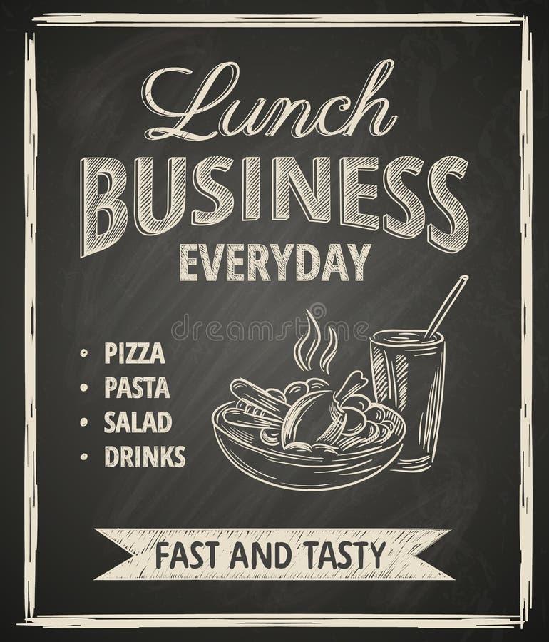 Manifesto del pranzo di lavoro royalty illustrazione gratis
