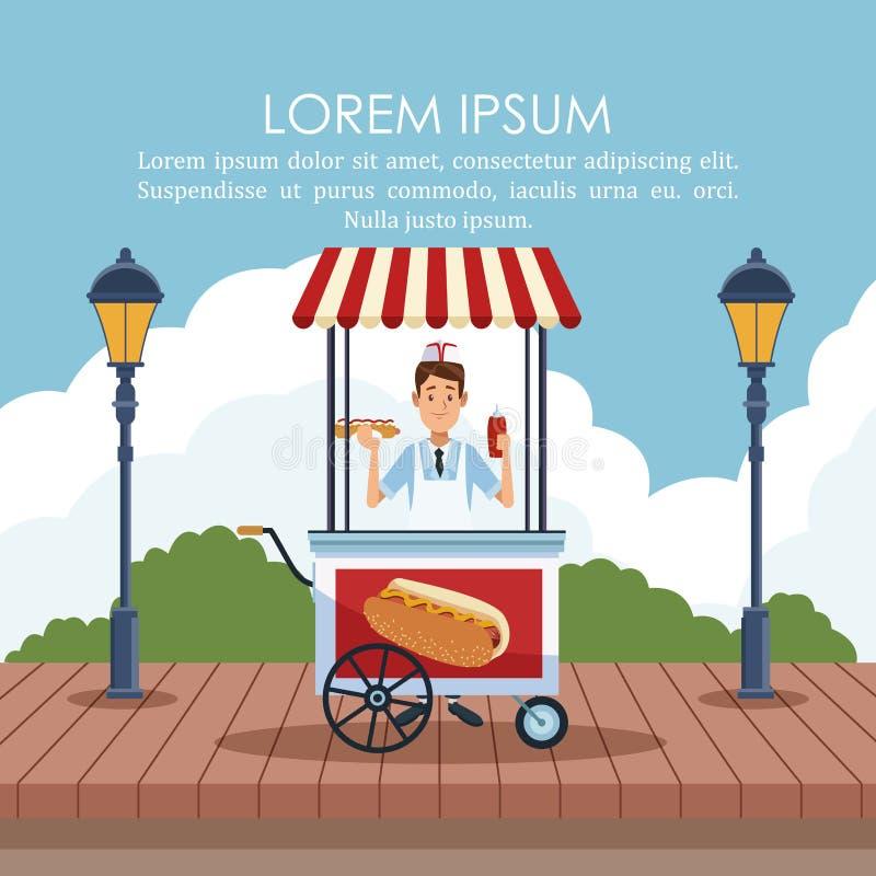 Manifesto del supporto dell'alimento illustrazione vettoriale