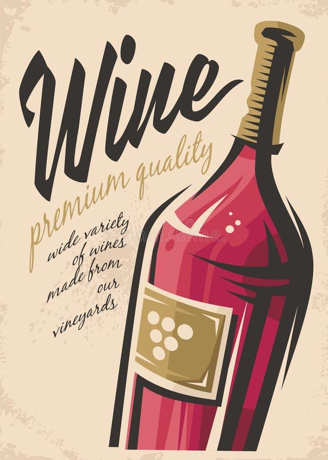 Manifesto del vino illustrazione vettoriale