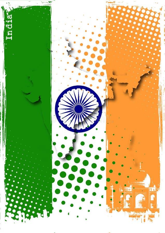Manifesto dell'India royalty illustrazione gratis
