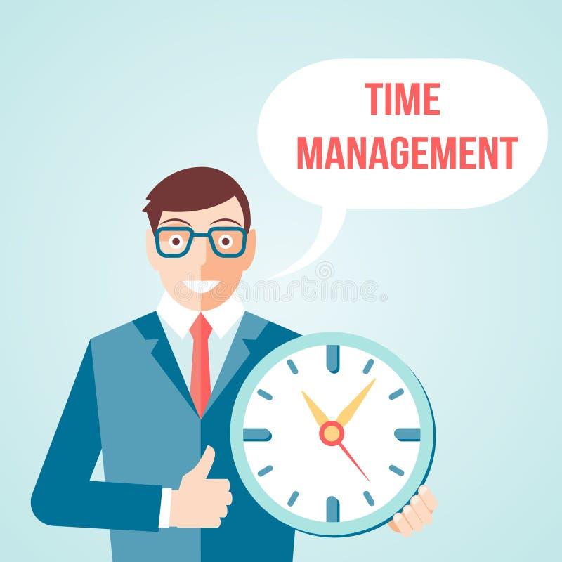 Manifesto della gestione di tempo royalty illustrazione gratis