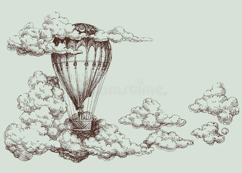 Manifesto della mongolfiera illustrazione vettoriale