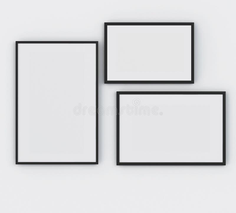 manifesto della struttura 3d tre Concetto del modello illustrazione di stock