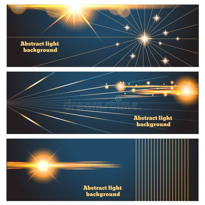 Manifesto delle insegne del chiarore di illuminazione o carta astratto IL illustrazione vettoriale