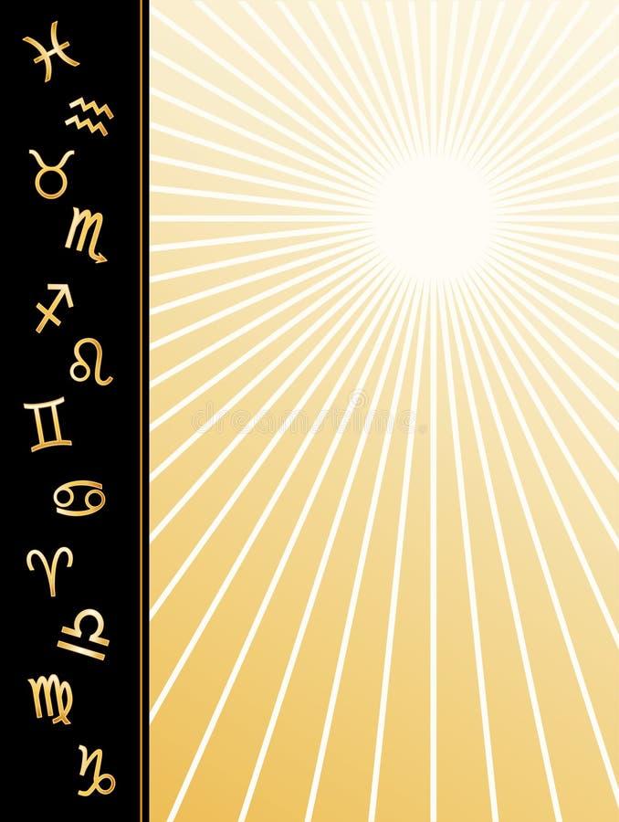 Manifesto dello zodiaco (jpg+eps) illustrazione vettoriale