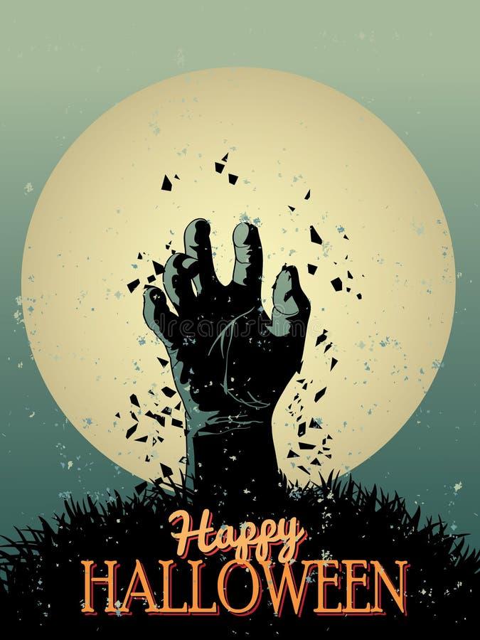 Manifesto dello zombie di Halloween illustrazione vettoriale