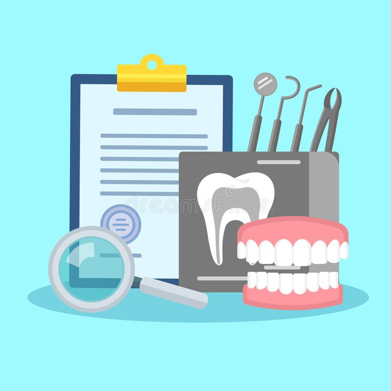 Manifesto dentario di trattamento royalty illustrazione gratis