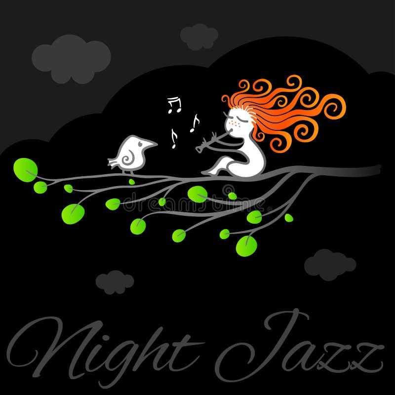 Manifesto di arte di vettore di jazz di notte illustrazione vettoriale